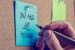 you are not alone - stock photo