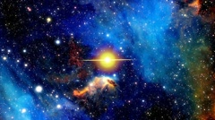 Supernova in outer space - stock footage