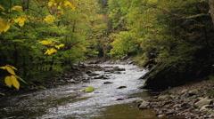 Sparkling mountain river autumn Stock Footage