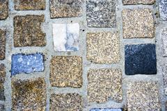 cobbled tile path texture - stock photo
