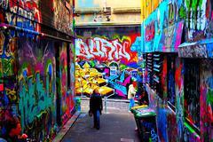 Graffiti Alley - stock photo