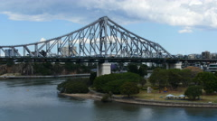 Brisbane on a sunny day Story bridge TL 4K Stock Footage