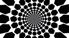Concentric, dashing, rotating hexagon, sexangle - optical, visual illusion Stock Footage