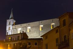 fabrica di roma by night - stock photo