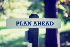 Plan ahead Stock Photos