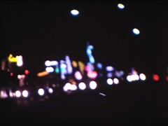 8MM USA Miami cars light and neons signs by night Arkistovideo