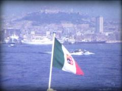 8MM ITALY italian naval flag / ensign Stock Footage