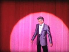 8MM USA Las Vegas presenter announcement / end of the show Stock Footage