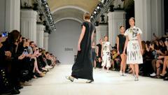 Ukrainian Fashion Week 2014 in Kiev, Ukraine. Stock Footage