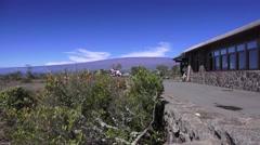 Kilauea, Jaggar museum Stock Footage