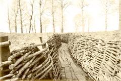 World war one trench belgium flanders Stock Photos
