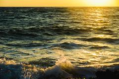 soltse rise of the sea in the morning - stock photo