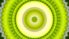Lovely kaleidoscopic circle pattern like kiwi fruit. Stock Footage