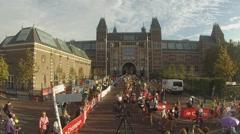 Amsterdam Marathon 2014 Stock Footage