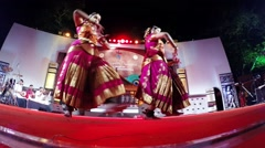 Local girls dancing at a festival, India, HD Stock Footage