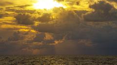 Sunrise Over Ocean at the Beach Palm Beach County Florida Stock Footage