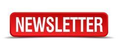 Newsletter red 3d square button isolated on white Stock Illustration