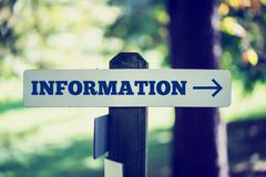 Information signboard Stock Photos