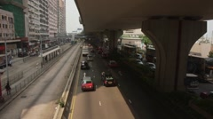 Hong Kong Rush Hour Traffic Stock Footage