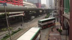 Public Transportation in Hong Kong Stock Footage