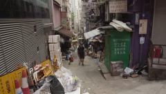 Backstreets of Hong Kong Stock Footage