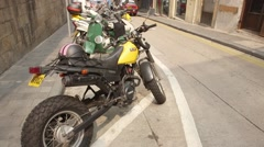 Motobikes on Hong Kong street Stock Footage