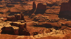 Canyonlands 42 Zoom In Grand View Point Utah USA Stock Footage