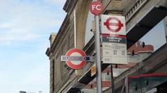 Putney Bridge Station Bus Stop Stock Footage