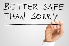 better safe than sorry - stock photo