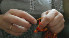 The process of crocheting Stock Footage