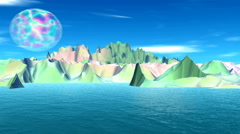 3d rendered fantasy alien planet Stock Footage