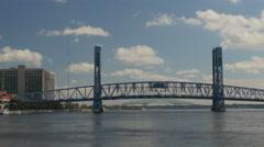 Main street bridge Jax 4K Stock Footage