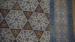 Tiles details of Topkapı palace Stock Footage