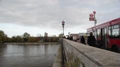 On Putney Bridge Stock Footage