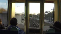 DLR journey Stock Footage