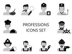 Professions icons set Stock Illustration