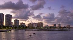 West Palm Beach City Skyline Downtown Buildings Flagler Drive Stock Footage