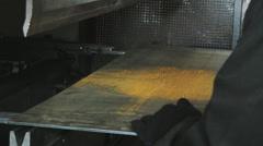 Stock Video Footage of Metalwork. Metal cutting
