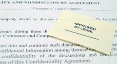 Legal Non-Disclosure Agreement - stock photo