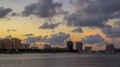 West Palm Beach City Skyline Downtown Buildings Marina Darth Vader Building Stock Footage