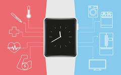 Smart wristwatch - stock illustration