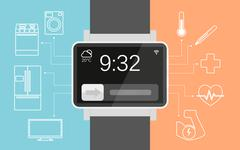 Smart wristwatch Stock Illustration