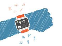 Smart wristwatch Stock Illustration