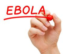 Ebola red marker Stock Illustration