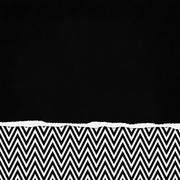 Square black and white zigzag chevron torn grunge textured background Stock Illustration