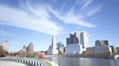4K Time lapse Columbus skyline Arkistovideo