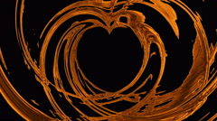 Heart of molten gold Stock Footage