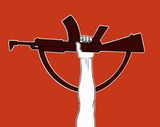 Armed revolution Stock Illustration