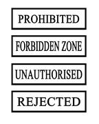 four prohibited stamps - stock illustration