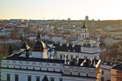 Vilnius cathedral Stock Photos